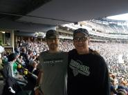 Dad and Chris at the New Comiskey